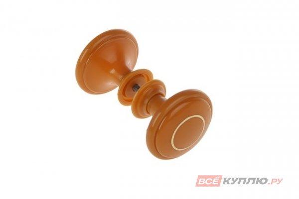 Ручка-кнопка Башкирия РДП-01-2 светлое дерево с золотым кольцом (2359)