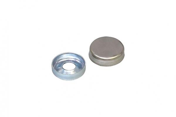 Крышечка декоративная D12 мм хром (с базой для шурупа) 11.0066
