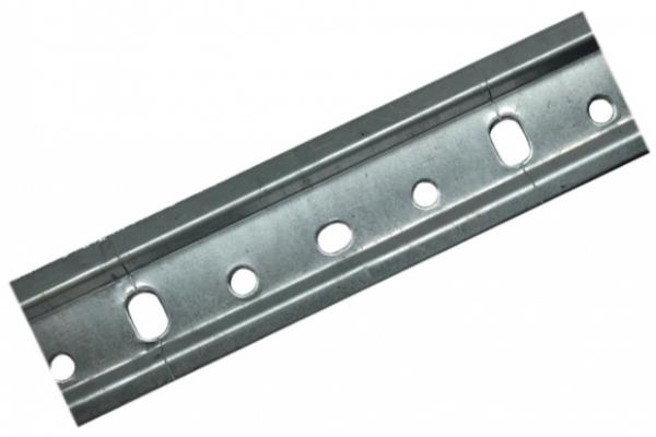 Шина для кухонных шкафов оцинкованная L-2m, толщина 44 х1,0 мм