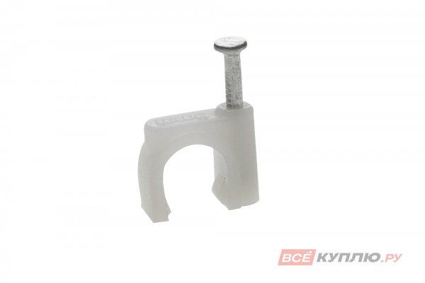 Скоба-держатель круглая с гвоздем Зубр для крепления кабеля 8 мм, 50 шт (45111-08)
