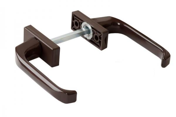 Ручка балконная двухсторонняя коричневая