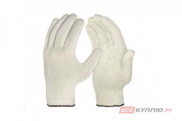 Перчатки х/б без покрытия 10 класс (4 нити) белые