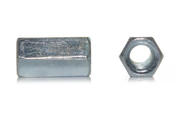 Втулка соединительная резьбовая DIN 6334 цинк М16*48 мм