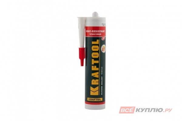 Герметик силиконовый KRAFTOOL красный, температуростойкий 300 мл (41259)