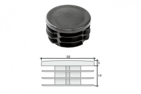 Заглушка ПВХ на круглую трубу внутренняя D=50 мм