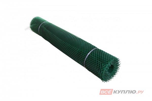 Сетка заборная пластиковая (высота 1,2 м яч.35х35 мм) Зеленая