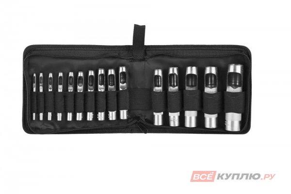Набор пробойников для кожи 3-25 мм Зубр МАСТЕР 15 шт (22949-H15)