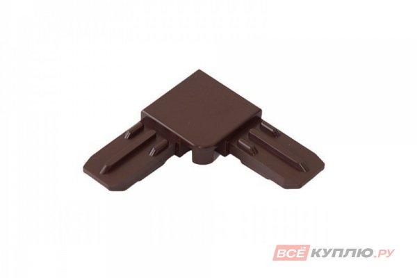 Соединительный уголок для профиля, коричневый металлический