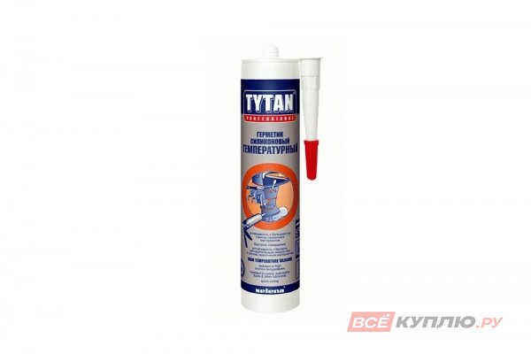 Герметик высокотемпературный силикон TYTAN красный 310 мл (Польша)