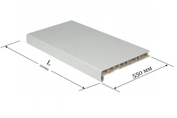 Подоконник ПВХ 550 мм белый