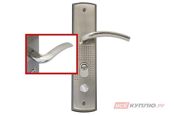 Ручки дверные на планке АЛЛЮР РН-А132-R универсальные правые (5665)