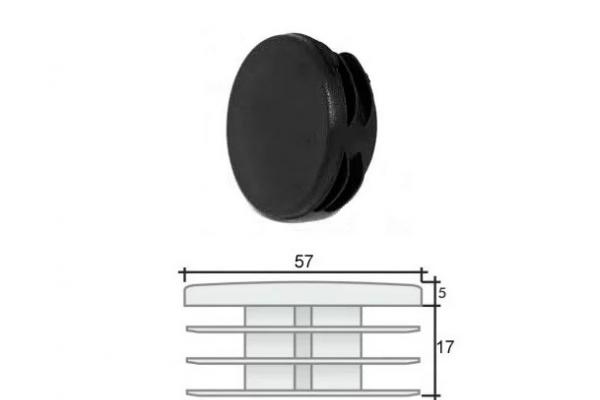 Заглушка ПВХ на круглую трубу внутренняя D=57 мм