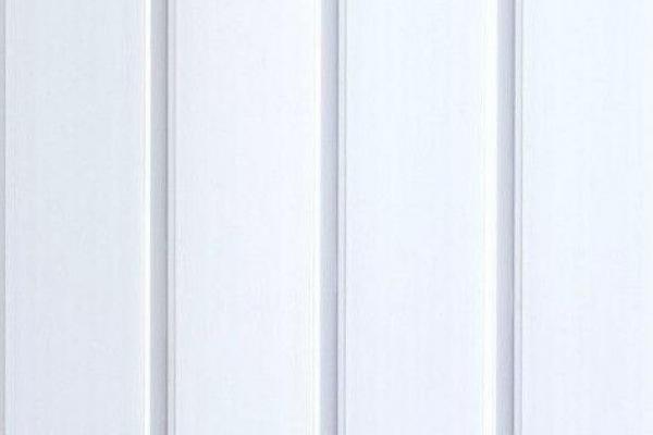 Панель ПВХ Вагонка 3000*100*10 мм белая матовая