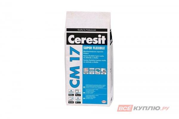 """Клей для плитки Супер Флекс """"Ceresit CM 17"""" 5 кг"""