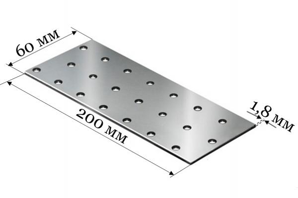 Пластина соединительная PS 60*200*1,8 мм