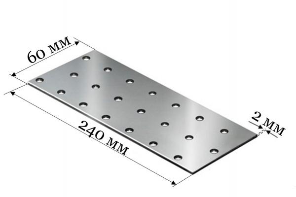 Пластина соединительная PS 60*240*2 мм