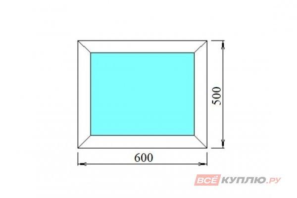 Окно ПВХ одностворчатое 60х50 см глухое