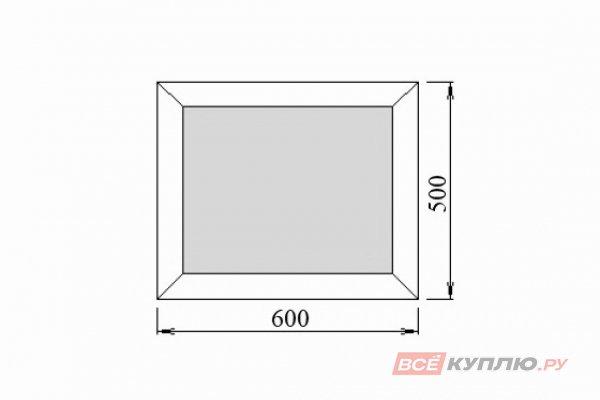 Окно ПВХ Deceuninck одностворчатое 60х50 см глухое