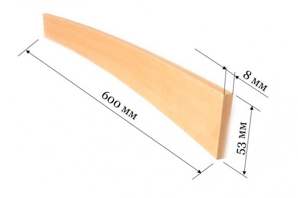 Ламель для кроватей и диванов 600*53*8 мм