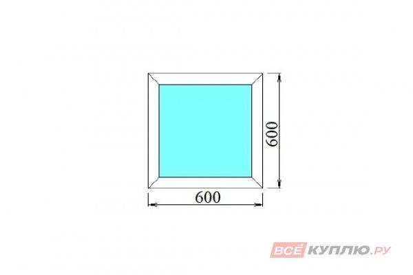 Окно ПВХ одностворчатое 60х60 см глухое