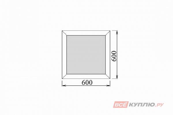 Окно ПВХ Deceuninck одностворчатое 60х60 см глухое