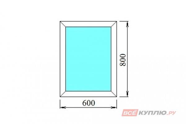 Окно ПВХ одностворчатое 60х80 см глухое