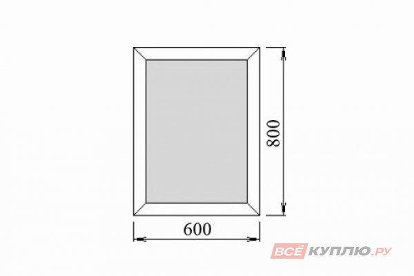 Окно ПВХ Deceuninck одностворчатое 60х80 см глухое