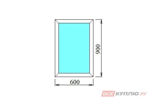 Окно ПВХ одностворчатое 60х90 см глухое