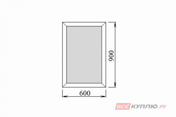 Окно ПВХ Deceuninck одностворчатое 60х90 см глухое
