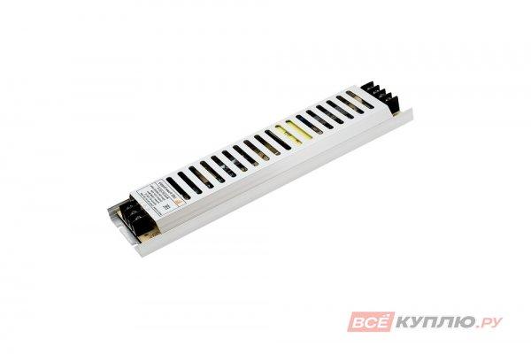 Блок питания для светодиодов ультратонкий в металлическом корпусе  220/12V 120W, IP20 сетка (15016)