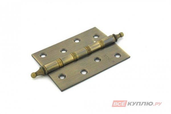 Петля дверная RENZ 100-4BB СH АВ 100*75 бронза (610)