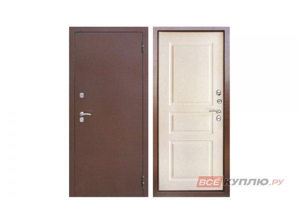 Дверь металлическая уличная Аргус с терморазрывом «ТЕПЛО-5» Дуб беленный