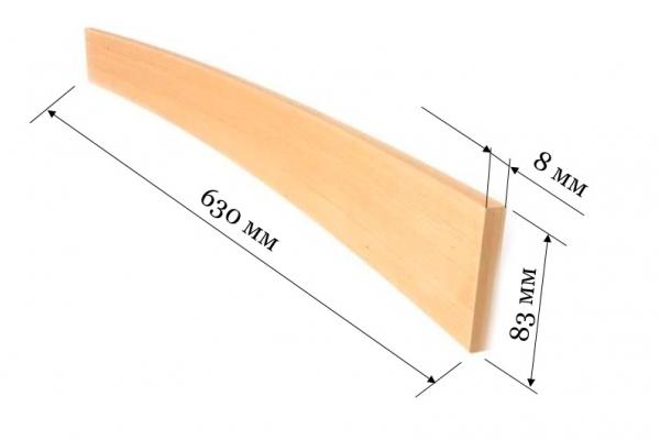 Ламель для кроватей и диванов 630*83*8 мм