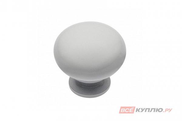 Ручка кнопка BERGAMO блестящий белый