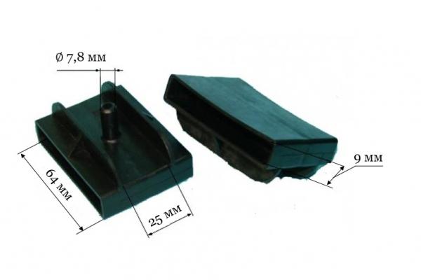 Латодержатель ЛДМ 64/2 1 двухсторонний, паз 64*9 мм с одним штырем