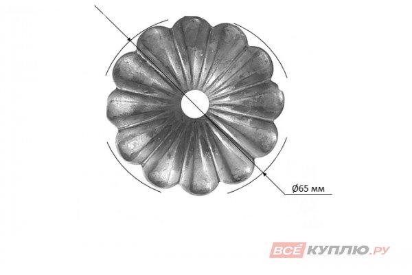 Цветок Ø65 мм ≠2 мм штампованный (116/А/4Р)
