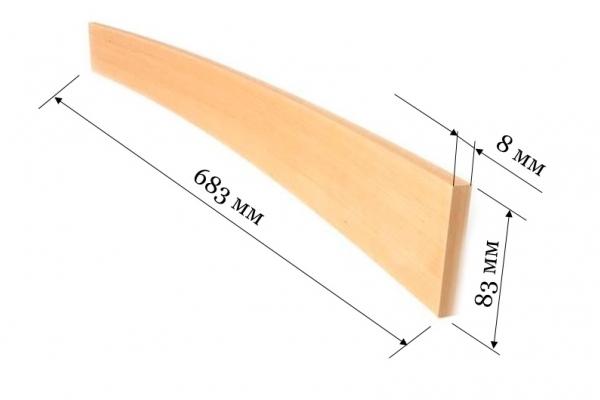 Ламель для кроватей и диванов 683*83*8 мм