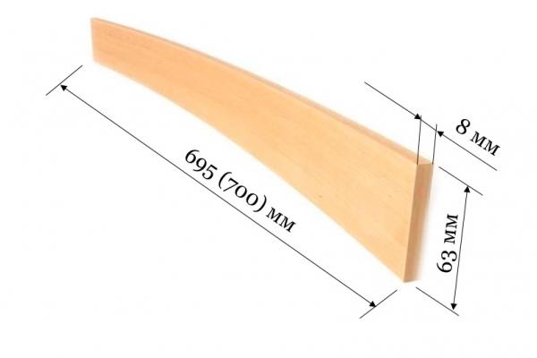 Ламель для кроватей и диванов 700 (695*63*8 мм)