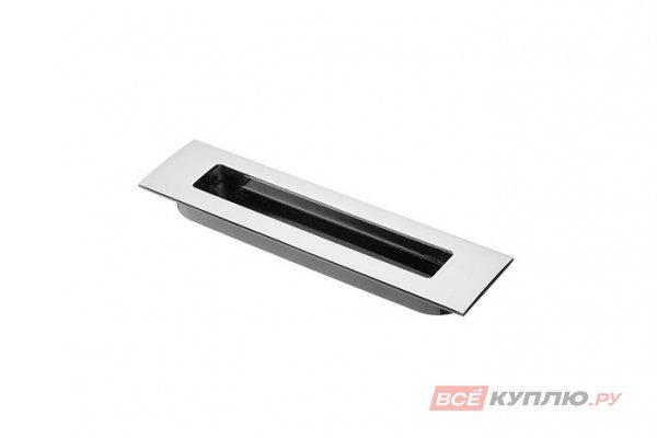 Ручка врезная мебельная UZ-E6-128-01 хром