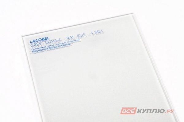 Стекло Lakobel белое классическое (RAL 9010) 2550*1605*4 мм (цена за лист)