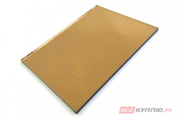 Стекло Бронза 2550*1605*4 мм (цена за кв.м/ нарезка)