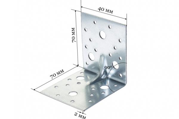 Уголок крепежный усиленный KUU 70*70*40*2 мм