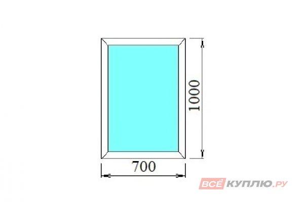 Окно ПВХ одностворчатое 70*100 см глухое