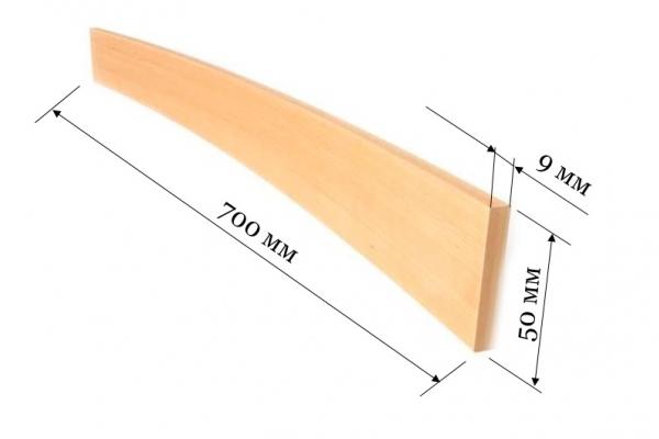 Ламель для кроватей и диванов 700*50*9 мм