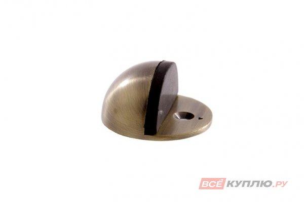 Ограничитель дверной АЛЛЮР G-7018 круглый старая бронза