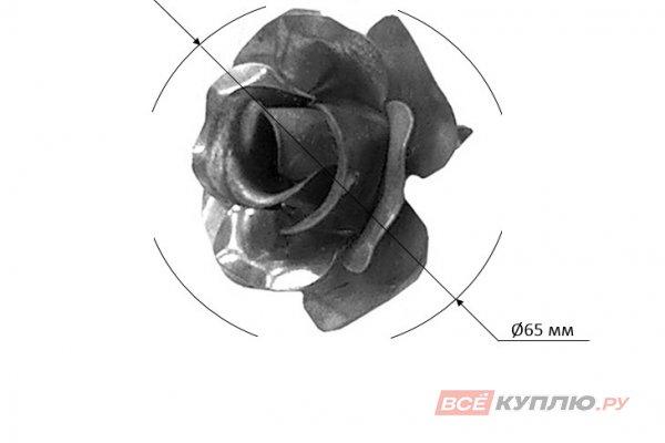 Цветок Ø65 мм ≠1 мм штампованный (2134)