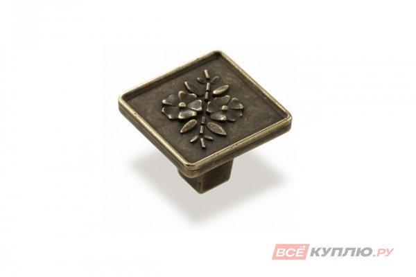 Ручка-кнопка мебельная FM-077 000 старая бронза (TS)