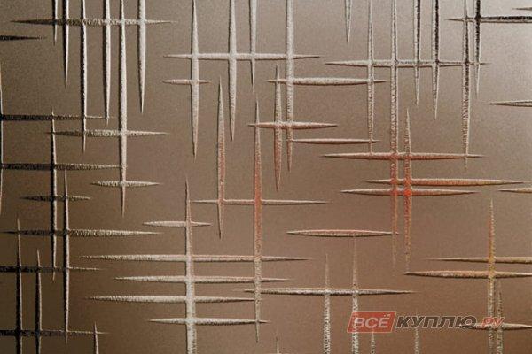 Стекло узорчатое матовое бронза Лабиринт 2550*1605*4 мм (цена за лист)