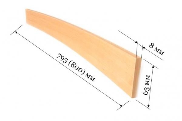 Ламель для кроватей и диванов 800 (795*63*8 мм)