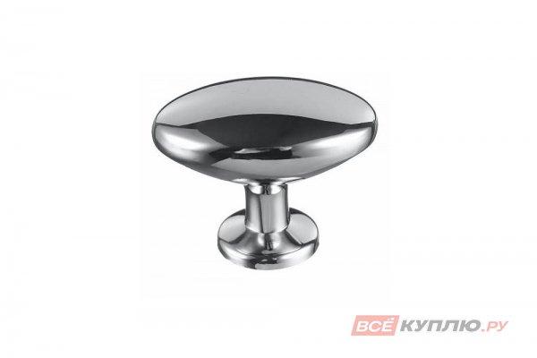 Ручка кнопка AMIX GP0904 (овал) хром